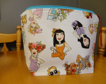 Fashioned Ladies - Zipper Project Bag