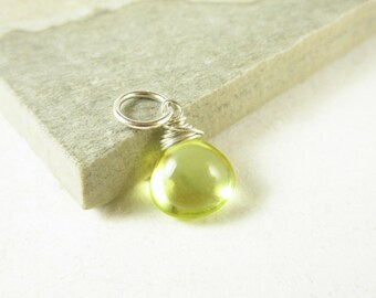 Lemon Yellow Quartz Pendant - Bright Yellow Jewelry - Wire Wrapped Jewelry Handmade - Natural Gemstone Pendants - Sterling Silver Charms