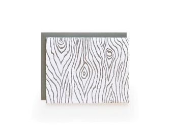 Faux Bois - letterpress card