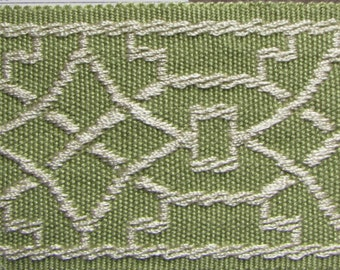 TAPE BRAID BORDER flat trim 2 inch cypress