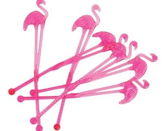 Set of 14 Flamingo Stirrrers / Flamingo Party / Flamigle Party
