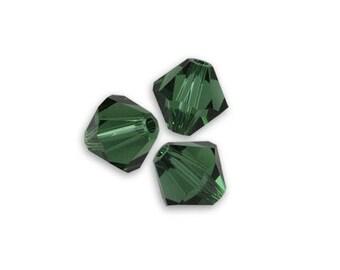 20 bicone 4 mm Green Turmaline Swarovski Crystal bead