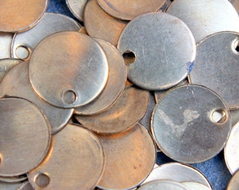 20 brass disks with hole
