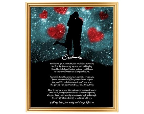 Valentines day gift personalized poem anniversary birthday