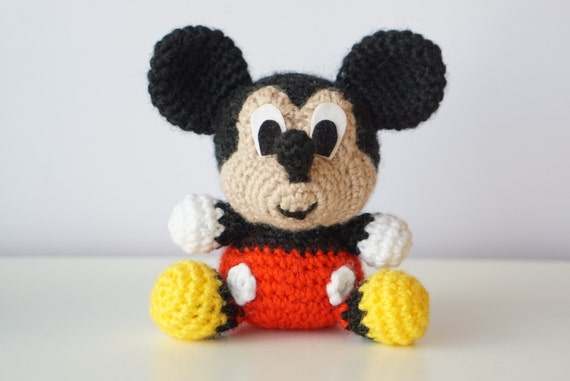 Amigurumi Mouse Pattern Crochet : Mickey mouse disney amigurumi pattern baby easy diy pdf crochet