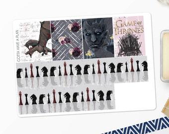Planner Stickers Game Of Thrones Washi for Erin Condren, Happy Planner, Filofax, Scrapbooking