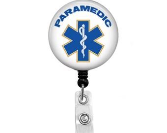 Paramedic - Badge Reel Retractable ID Badge Holder