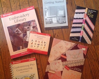 Husqvarna Viking Embroidery System Book Lot CD