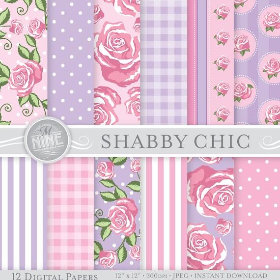 shabby chic num rique papier rose et violet shabby chic. Black Bedroom Furniture Sets. Home Design Ideas