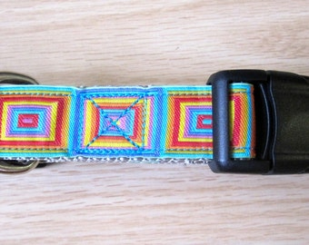 Hip to be Square - Square Print Dog Collar