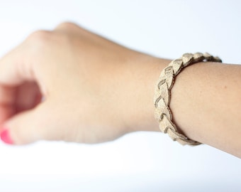 Braided Leather Bracelet / Luminous