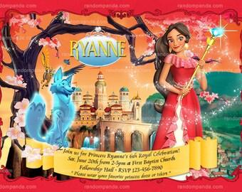 Elena of Avalor Invitation, Princess Elena Birthday Party Invite
