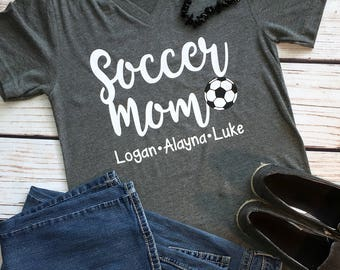 Personalized Soccer Mom Shirt, Soccer Player Shirt, Soccer Mom Shirt, Soccer Mom Shirts, Little League, Soccer Mom Tee, Favorite Player