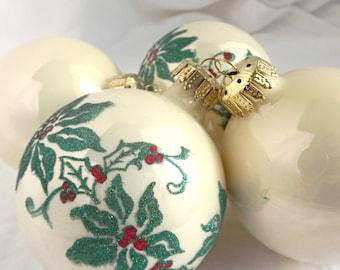 Vintage Glass Christmas Tree Ornaments, Holiday Decor, Christmas Tree Decorations, Vintage Christmas, Festive Decor,Christmas Decor