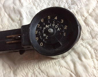 VINTAGE ARMY HANDSET, military  telephone, mid century, signal corps, collectible communication, phone