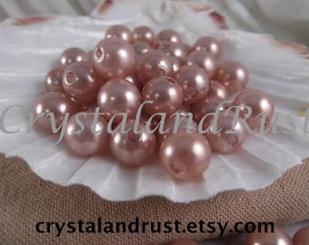 10mm Taupe Faux Loose Pearls ~ 50 pieces