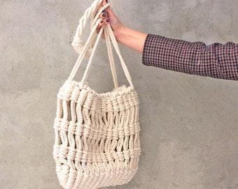 Macrame bags Organic cotton bag Macrame purse Rope bag Weekender bag Macrame patterns Woven bag Handbag macrame Gift women Festival handbag