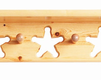 Little Colorado Star Peg Shelf - Painted