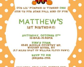 Kid Farm Birthday Invitation
