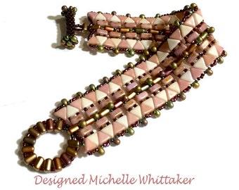 Aztec Kheop Path Needlework Bracelet Tutorial PDF