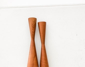 Set of 2 mid century modern candle holders