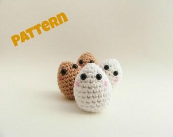Crochet Egg Pattern, Amigurumi Egg Pattern, Crochet Pattern, Amigurumi Pattern, Easter Pattern, Easter Egg Pattern, Amigurumi Easter Eggs