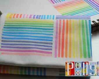 Eye-catching 'rainbow squares' striped motif digitally printed 100% cotton fabric fat quarter