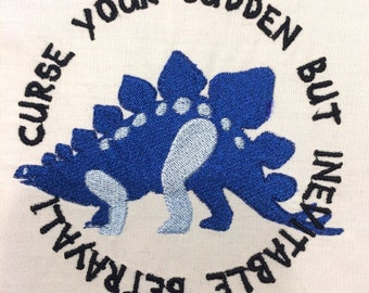 Curse your sudden but inevitable betrayal Machine Embroidery Design 4x4