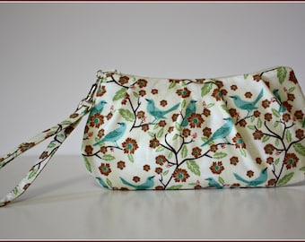 Birds on Branches Wristlet