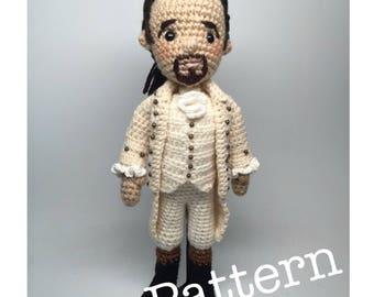 Alexander Hamilton Musical Amigurumi Crochet doll Pattern