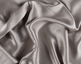 """42"""" Wide Stretch Silk Charmeuse Light Taupe By the Yard (1500M127)"""