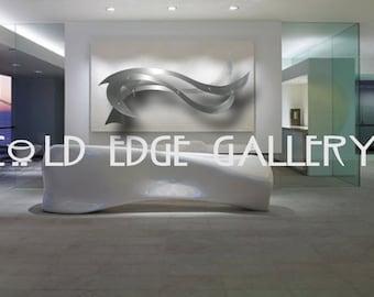 Large Wall art, Art & Collectibles, Sculpture, Metal Sculpture, metal wall art, Sculpture wall art, abstract sculpture, office decor, Ocean