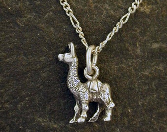 Sterling Silver Llama Pendant on a Sterling Silver Chain