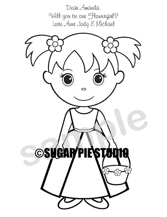 Personalized Printable Flowergirl Ringbearer Wedding Party