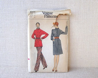 Vintage Misses' Dress Tunic Pants Sewing Pattern . Vogue 8372 . Size 12 - 34 bust 36 hip . Uncut