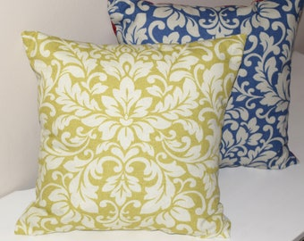 Damask Pillow Cover, Blue Cushion Cover, Champagne PillowCover, Damask Throw Pillow Cover,  Red Damask Cushion Cover, Sofa Pillow Cover,