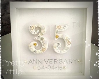 Personalised anniversary gift numbers.