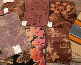 Vintage Lot of Upholstery Fabric Samples / Crafting / Quilting / Repurpose / Upcycle / Heavyweight / Kroehler Manufacturing Company / NY