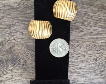 "Givenchy ""Shrimp"" gold-tone earrings--clip back"