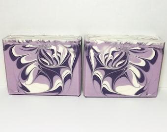 Amethyst Soap, Handmade Soap, Cold Process Soap, Bar Soap, Artisan Soap