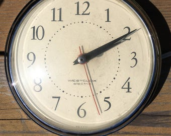 Westclox Vintage Electric Wall Clock
