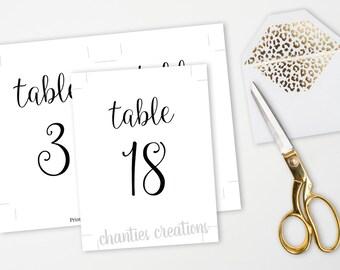 Printable Table Numbers 1-30. 4x6 and 5x7 black table numbers. Wedding Table Numbers. Wedding Table. Printable Wedding Signs. Wedding DIY