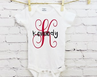 Personalized Monogram Baby Onesie - Customize It - Baby Gift Idea - Baby Bodysuit