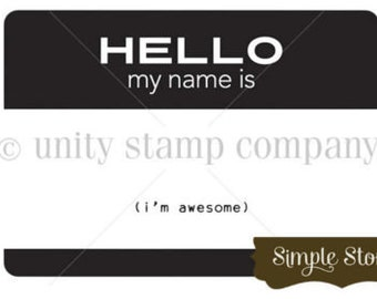 Unity Stamp, Hello, I'm Awesome
