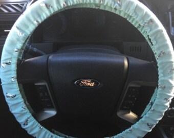 Silver Mermaid Metallic Steering Wheel Cover