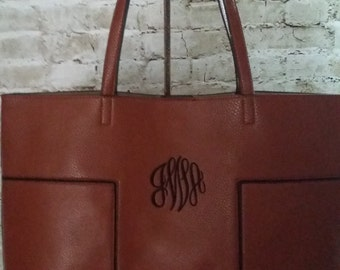 Faux (Vegan) Leather Handbag/Tote with Shoulder Bag Insert - Great Looking and Verstaile!