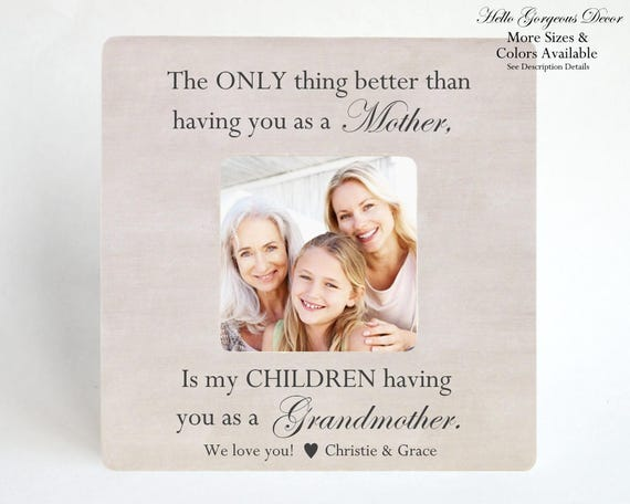 Mother\'s Day Gift to Mom Grandmother Picture Frame Personalized Gift ...