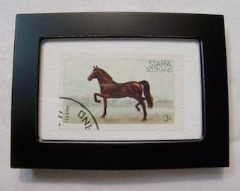 Horse Stamp, Vintage Stamp, Framed Postage Stamp, Horse, Framed Horse art, Gift under 10