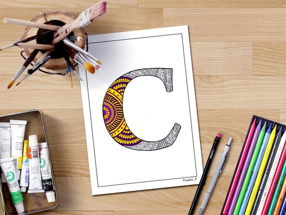 Coloring Pages For Letter C : Letter c coloring page personalized coloring page letter