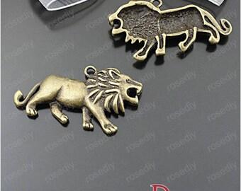 5 bronze 46 * 24MM D25563 lion charm